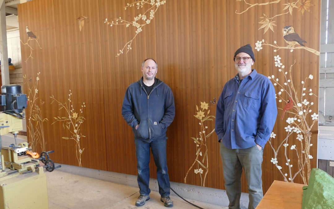 Greg Zall and Mark Tindley, Fine woodworking and marquetry.
