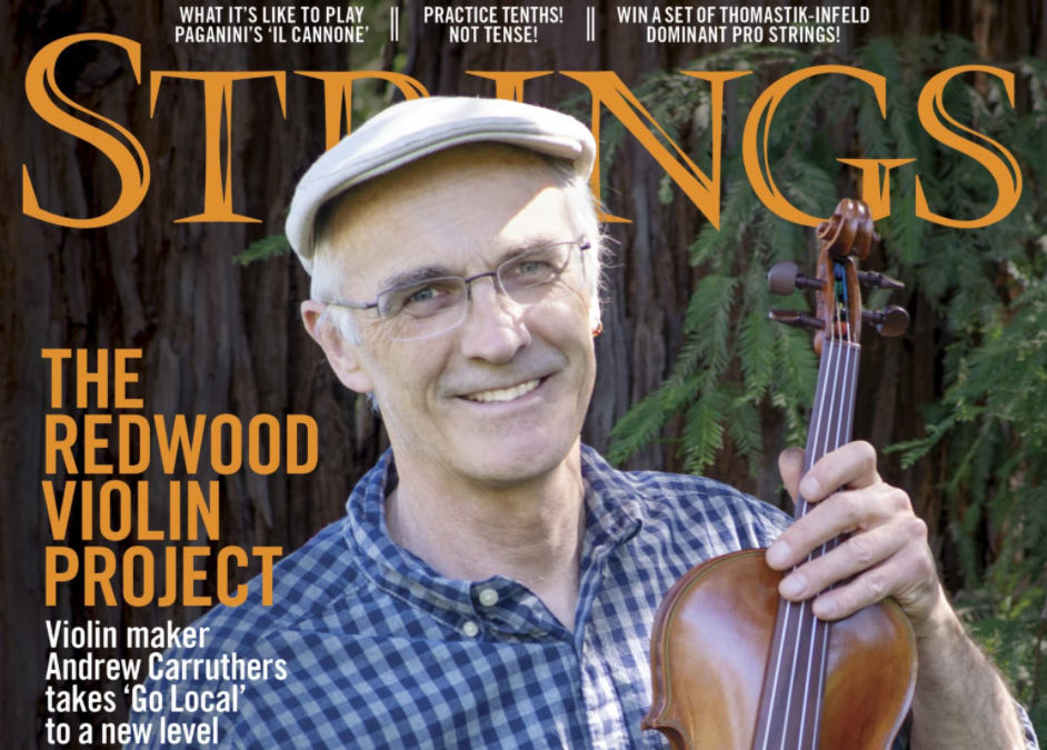 We Made the Cover of Strings Magazine!